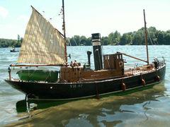 Ocean Dawn schottischer steam drifter (Treibnetzfischer) - basiert auf dem Baukasten Peggy von Modelslipway - 1:24