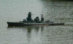 Großmodell eines japanischen Kriegsschiffs