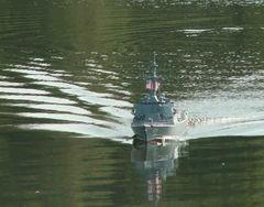 USS Kidd von Jürgen Klapp hatte Werftabnahme bei absolut ruhigem Wasser